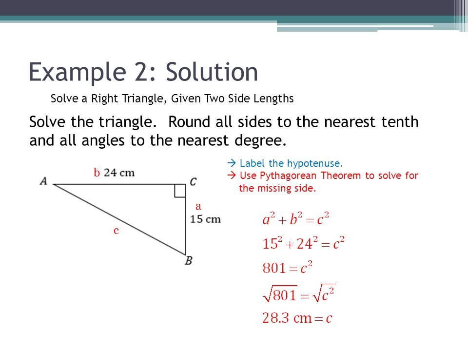 Solving Right Triangles Ppt Video Online Download
