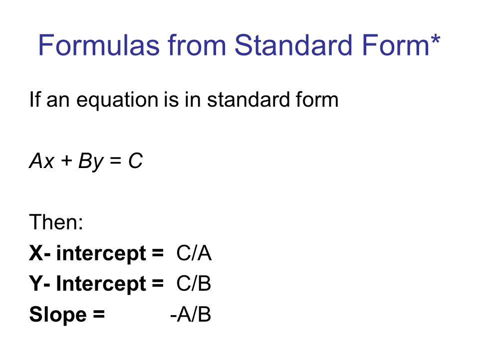 Drill 18 Find The X And Y Intercepts Of The Following Equations