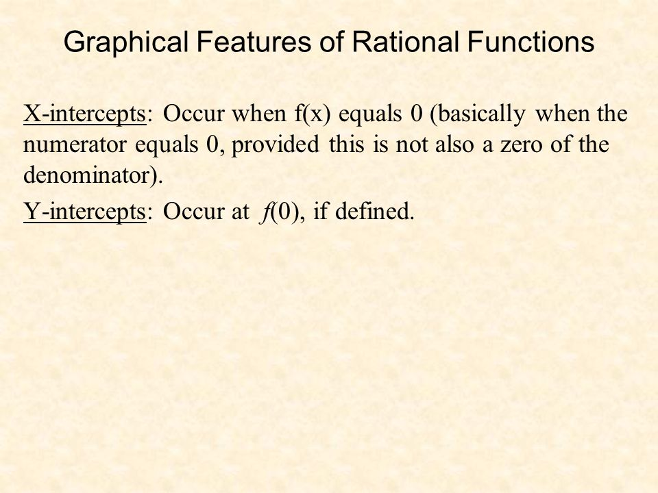 Graphical Features of Rational Functions