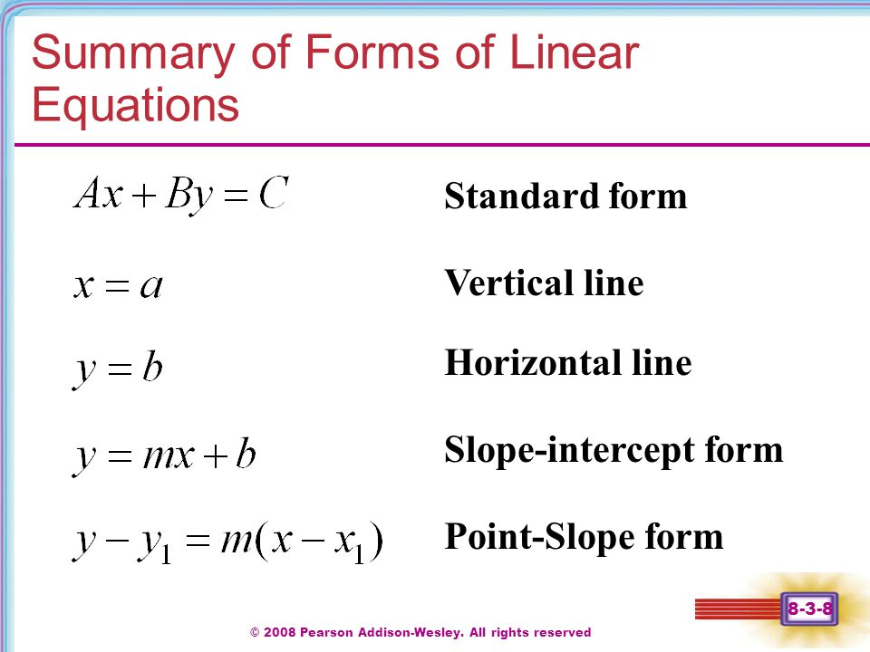 Section 8 3 Chapter 1 Equations Of Lines And Linear Models Ppt