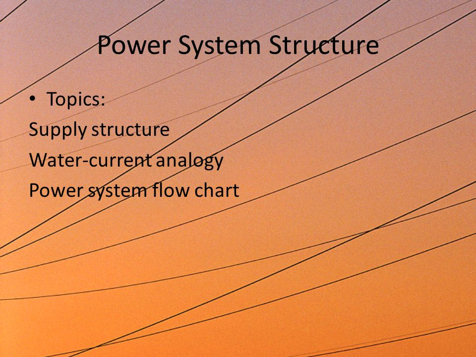 Power System Structure Basic DWP Power System on