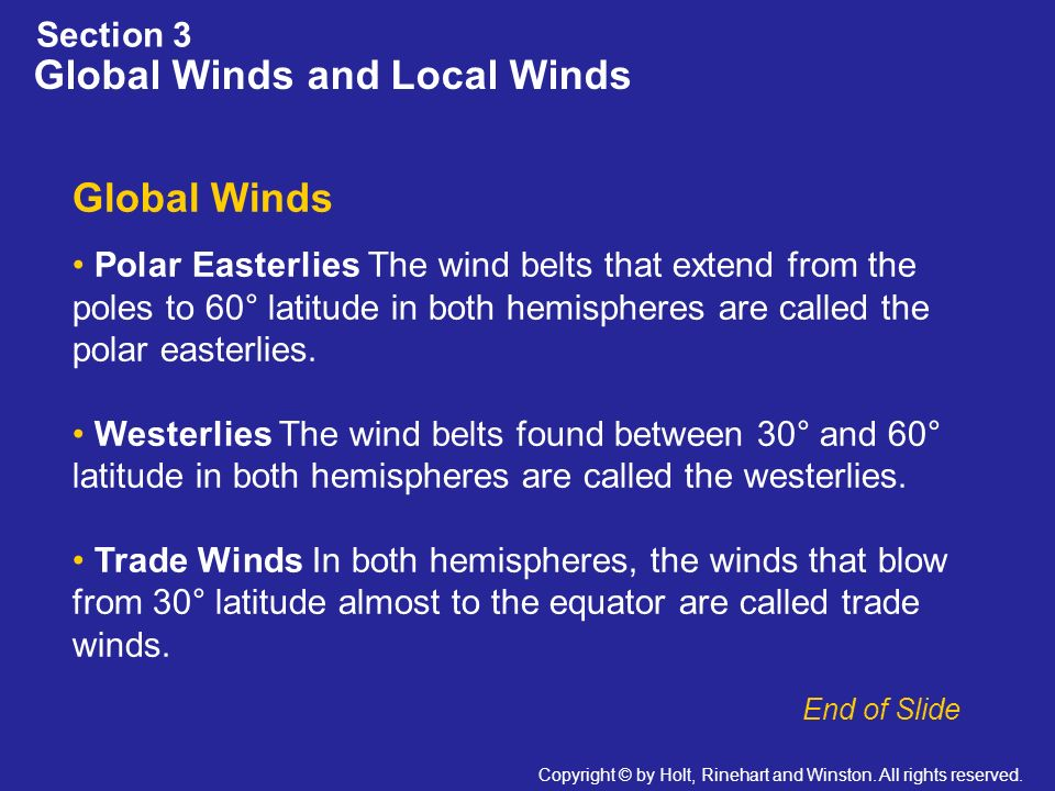 Global Winds and Local Winds
