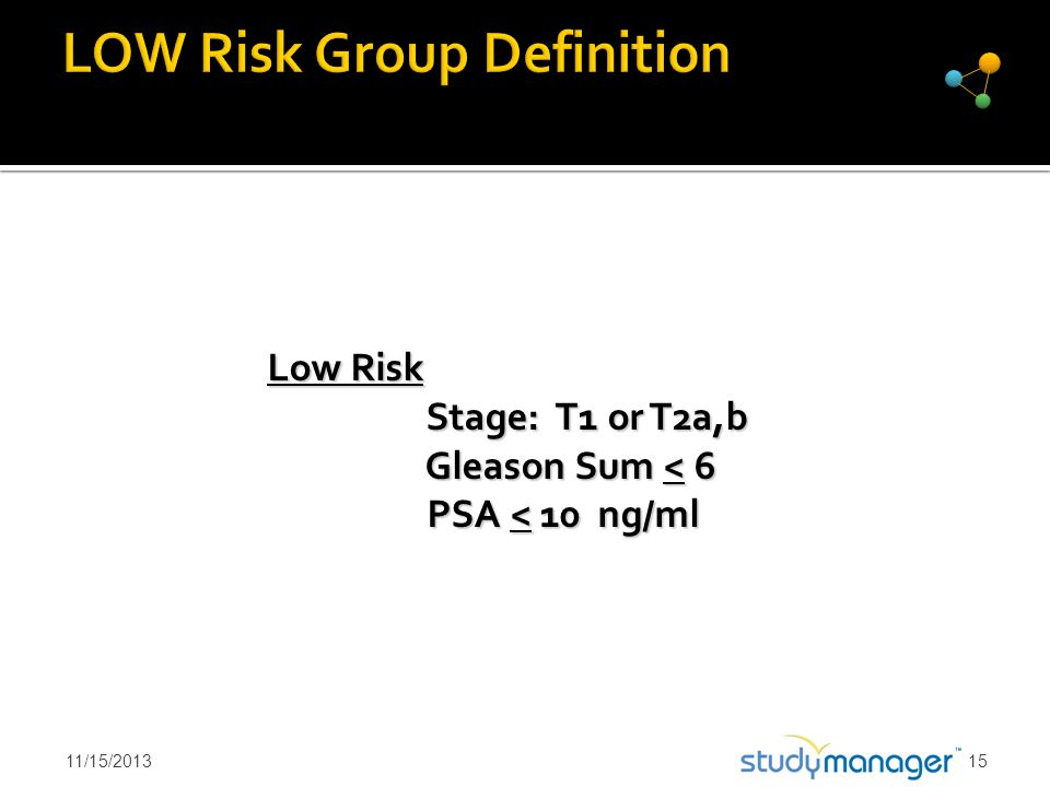 LOW Risk Group Definition
