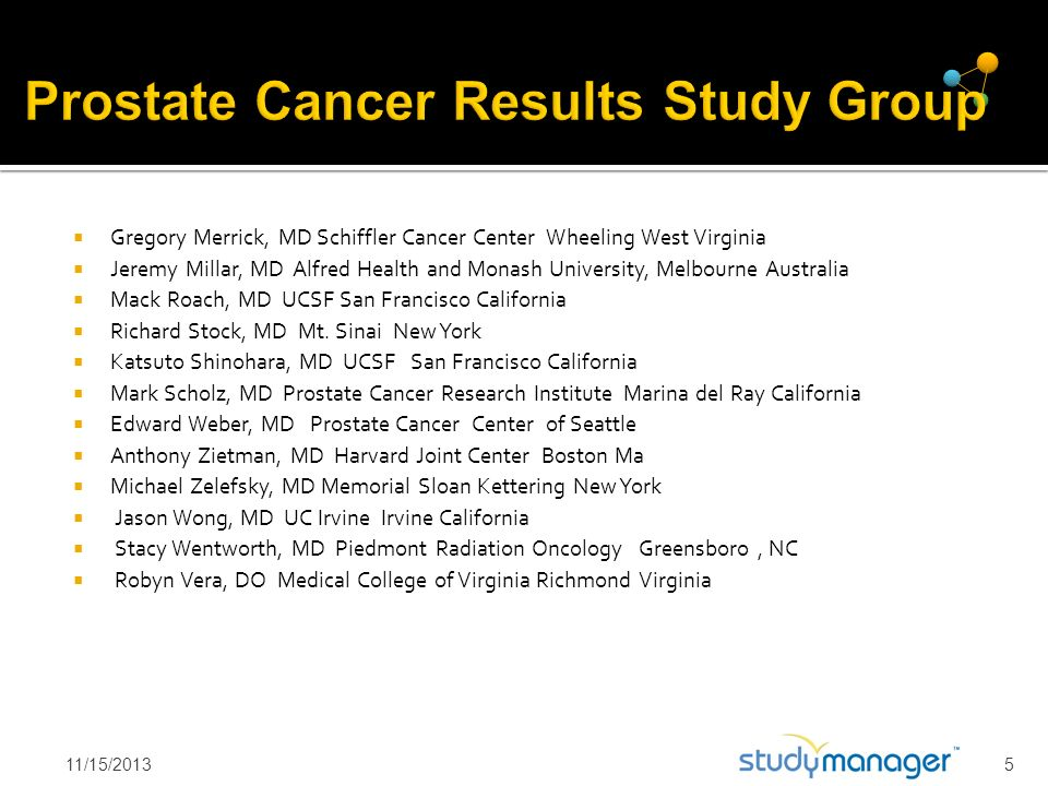 Prostate Cancer Results Study Group