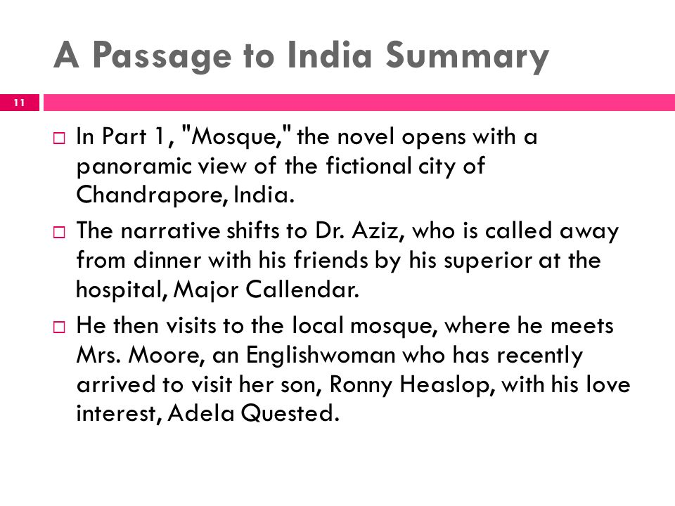 Novel Ii Lecture 23 A Passage To India Ppt Video Online Download