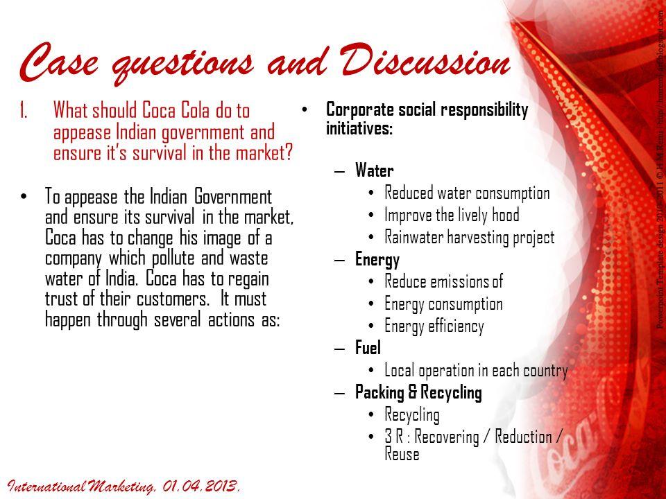 coca cola social responsibility