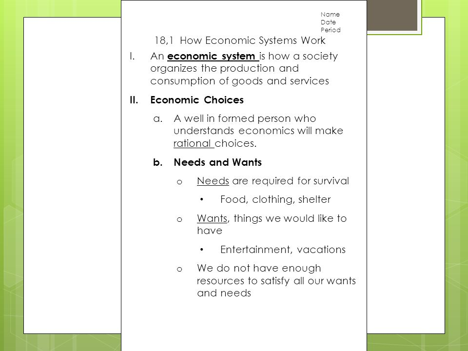 18 1 how economic systems work ppt download rh slideplayer com Economic Activity Examples Primary Economic Activity