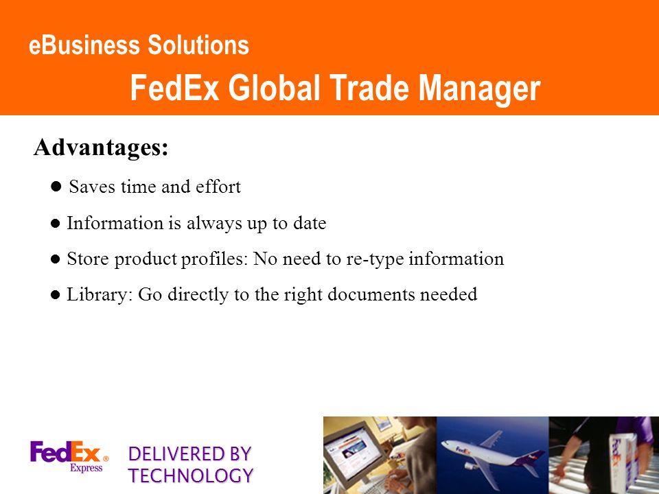 advantages of fedex