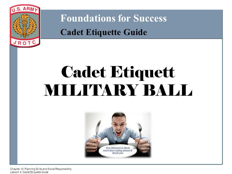29f0dd6f36 Cadet Etiquett MILITARY BALL. - ppt download
