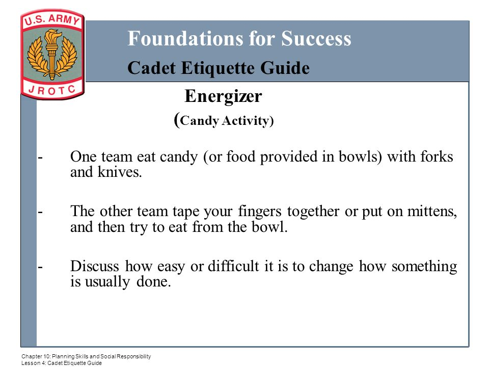 c5b234f988 Cadet Etiquett MILITARY BALL. 2 Energizer ...