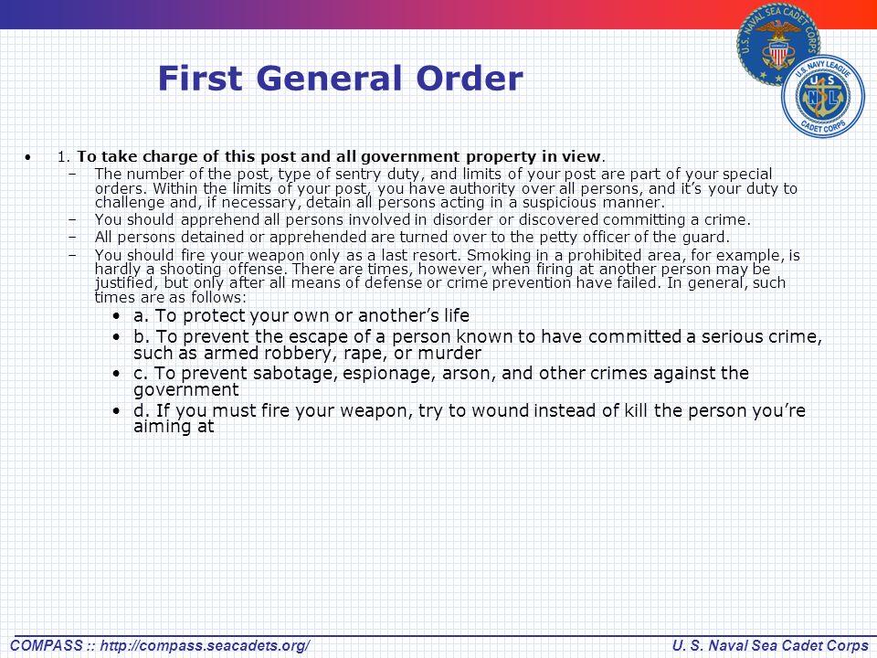 3 general orders
