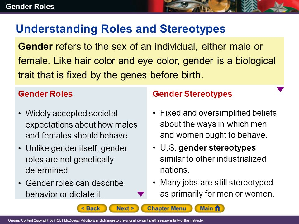 A simple way to understand the origin of gender roles