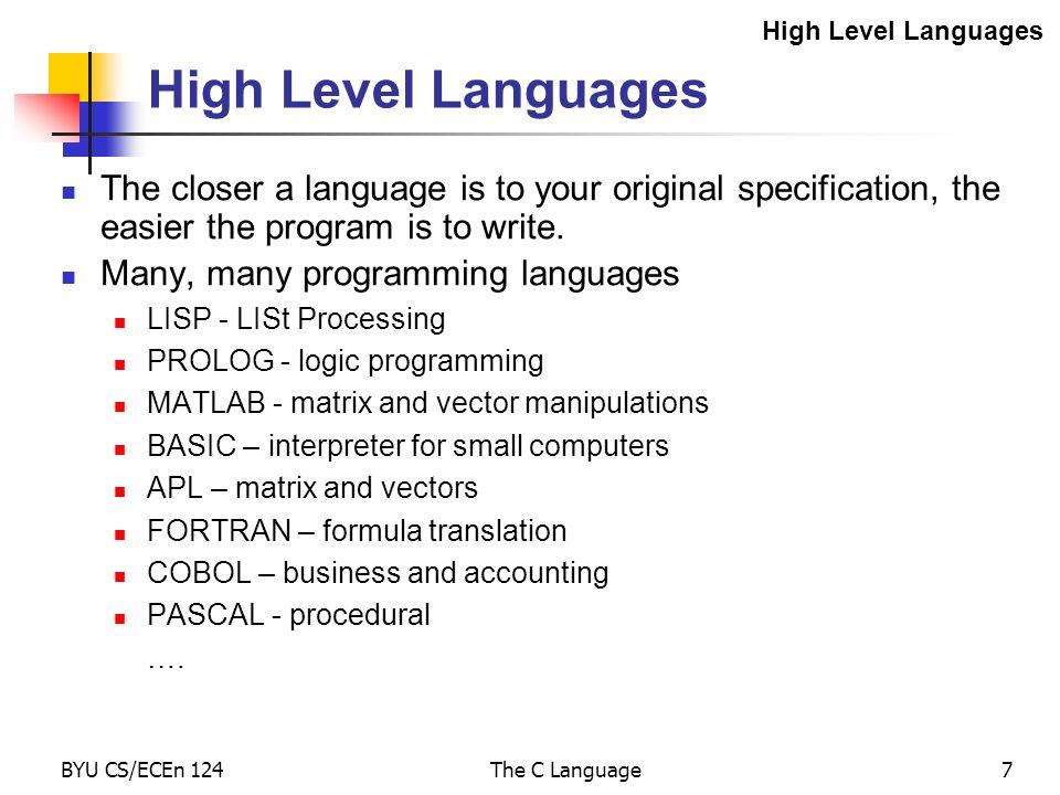 программа уровень c