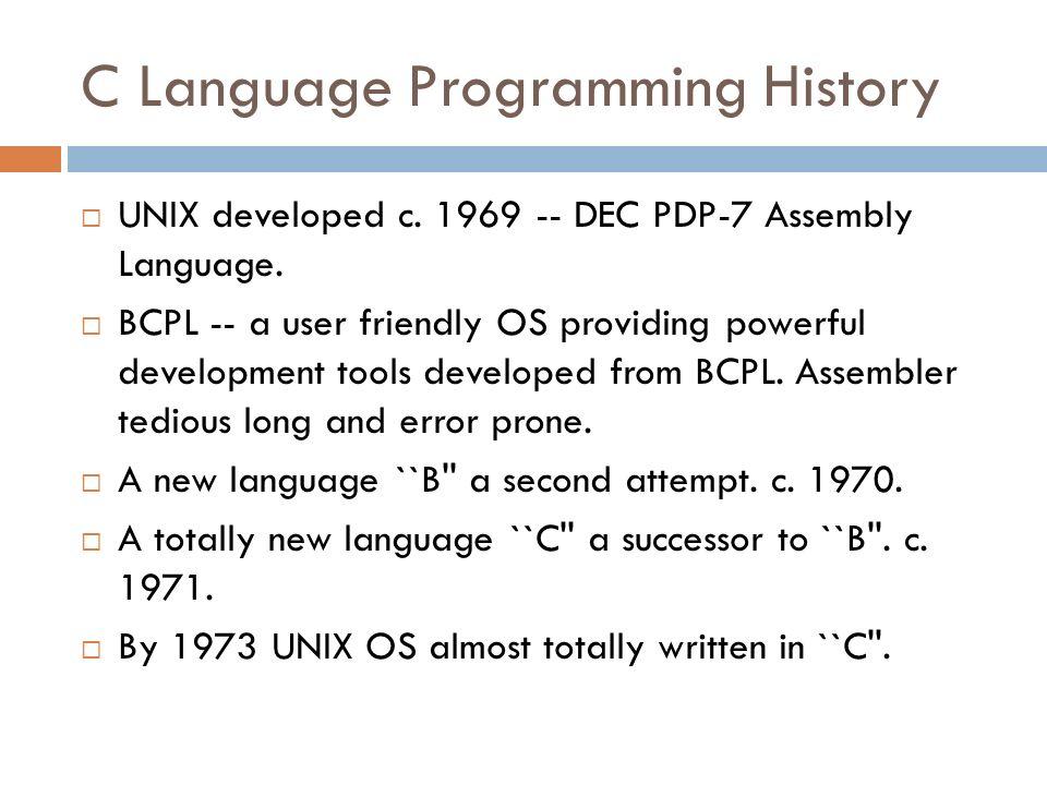 0e4ee0f3bb8f13 C Programming language - ppt download