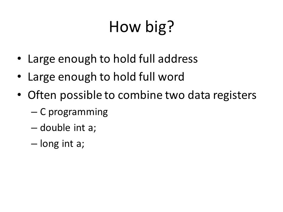 How big Large enough to hold full address