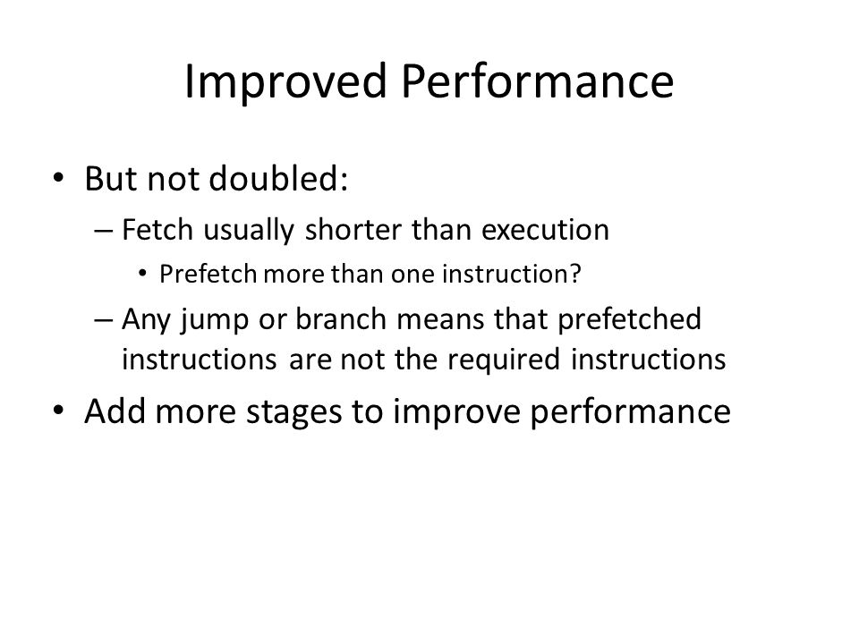 Improved Performance But not doubled: