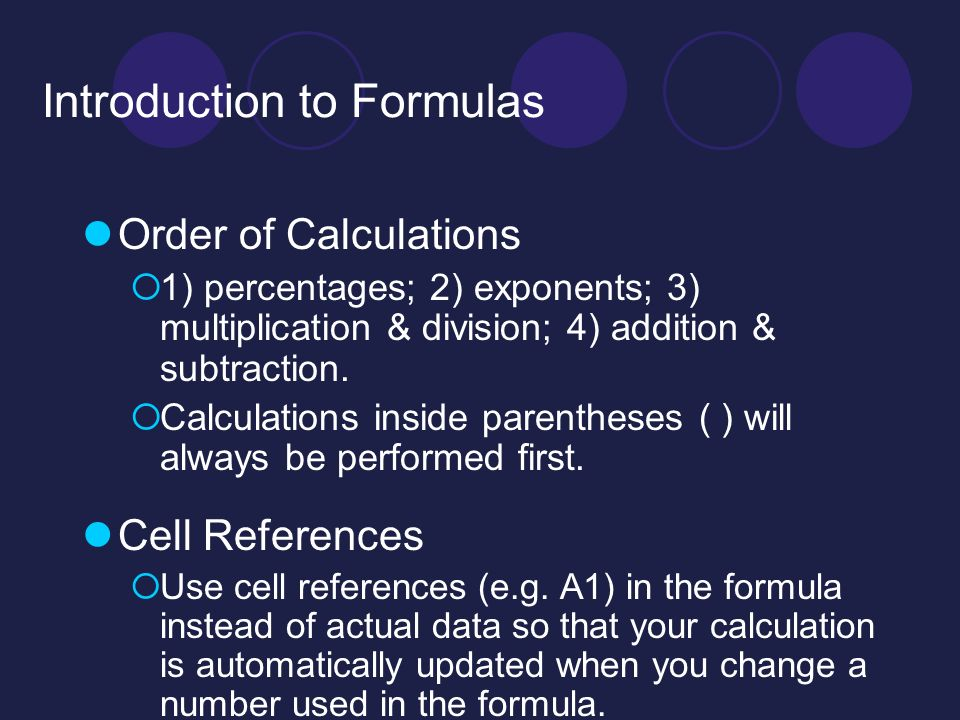 Excel Worksheet 5 Class Agenda Formulas Functions Ppt Video. 3 Introduction To Formulas. Worksheet. Worksheet Calculate Specific Cell At Clickcart.co