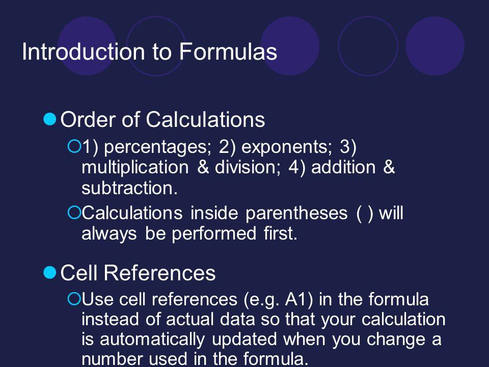 Excel Worksheet 5 Class Agenda Formulas Functions Ppt Video