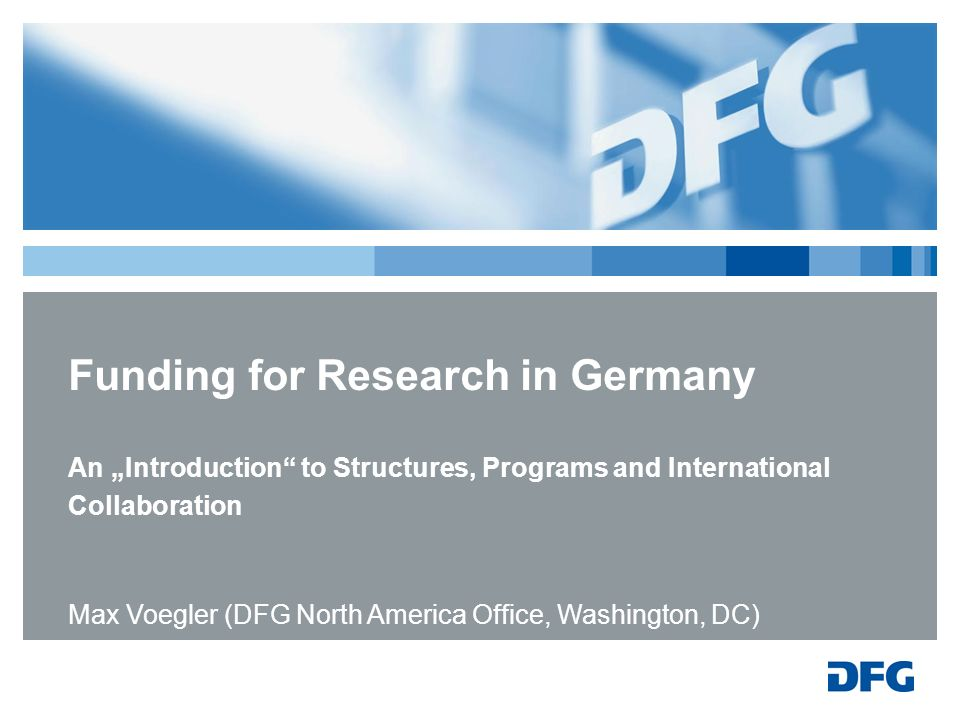 Funding for Research in Germany