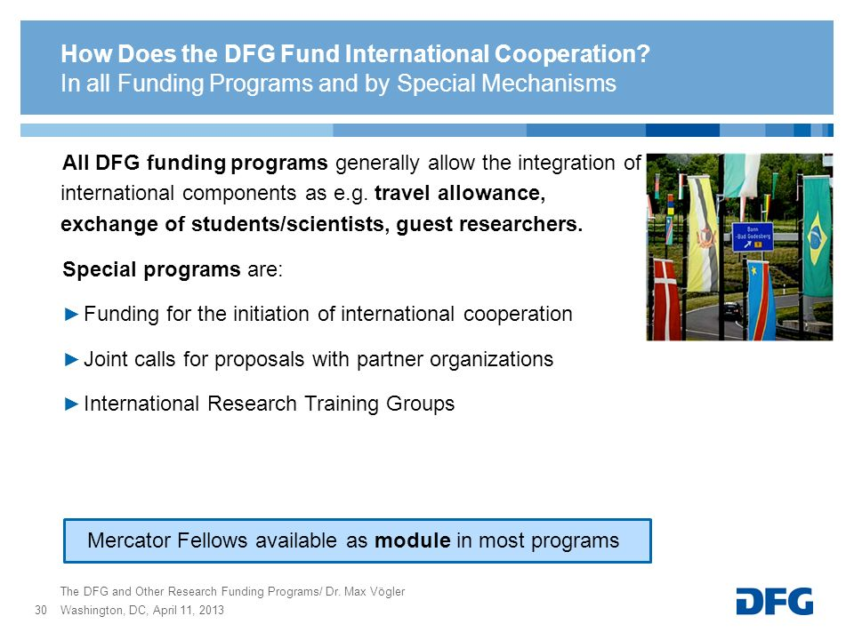 How Does the DFG Fund International Cooperation