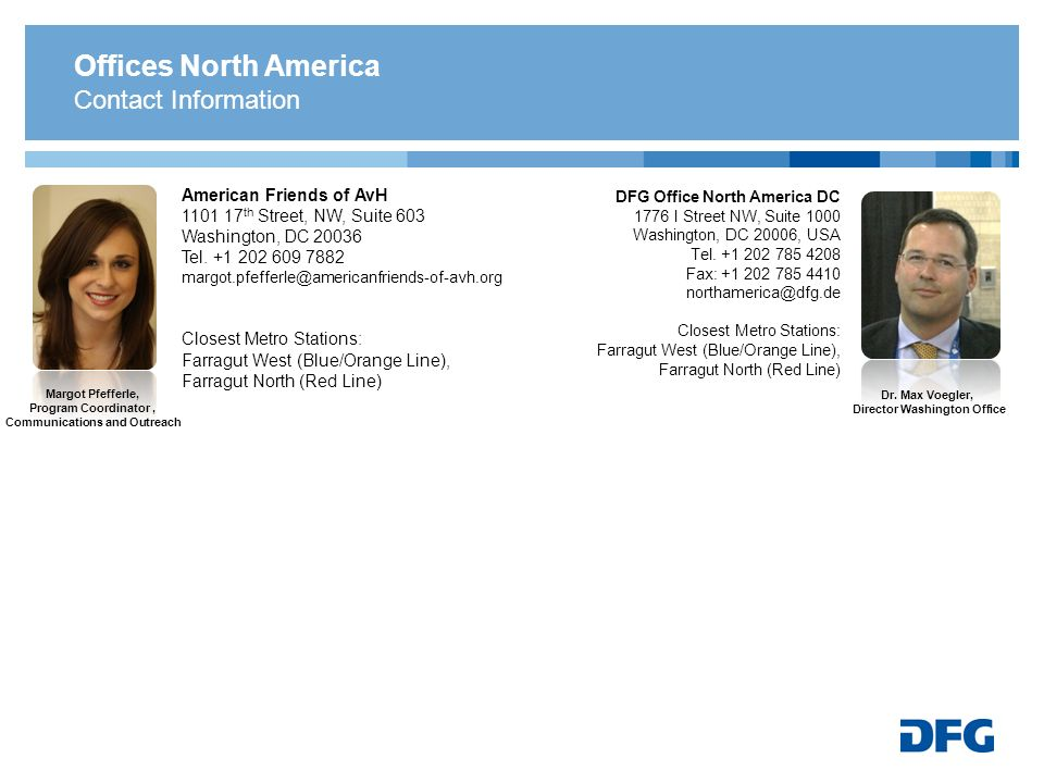 Offices North America Contact Information. American Friends of AvH.