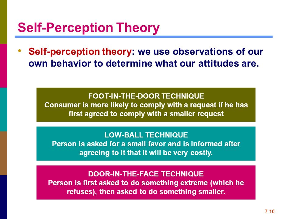343f11 [licensed for non-commercial use only] / self-perception theory.