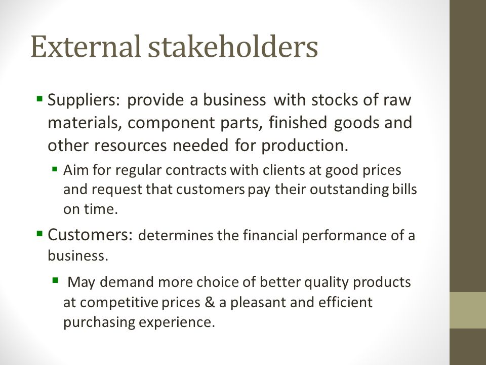 Unit 1.4: Stakeholders KEY TOPICS - ppt download