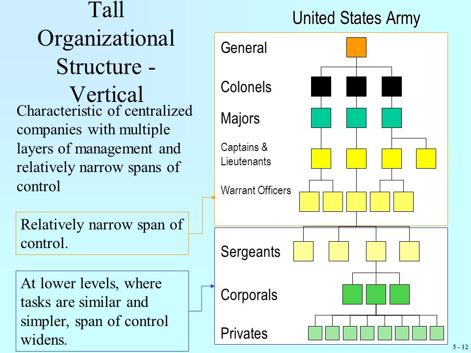 Tall Organizational Structure -Vertical
