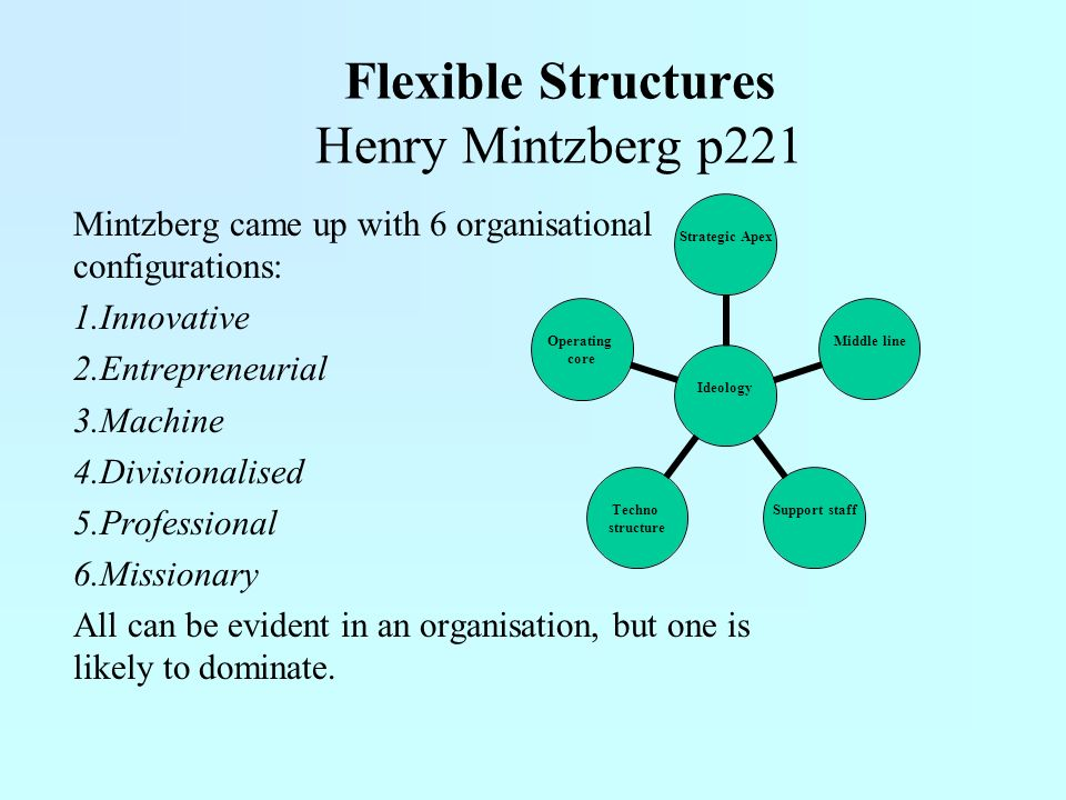 Flexible Structures Henry Mintzberg p221