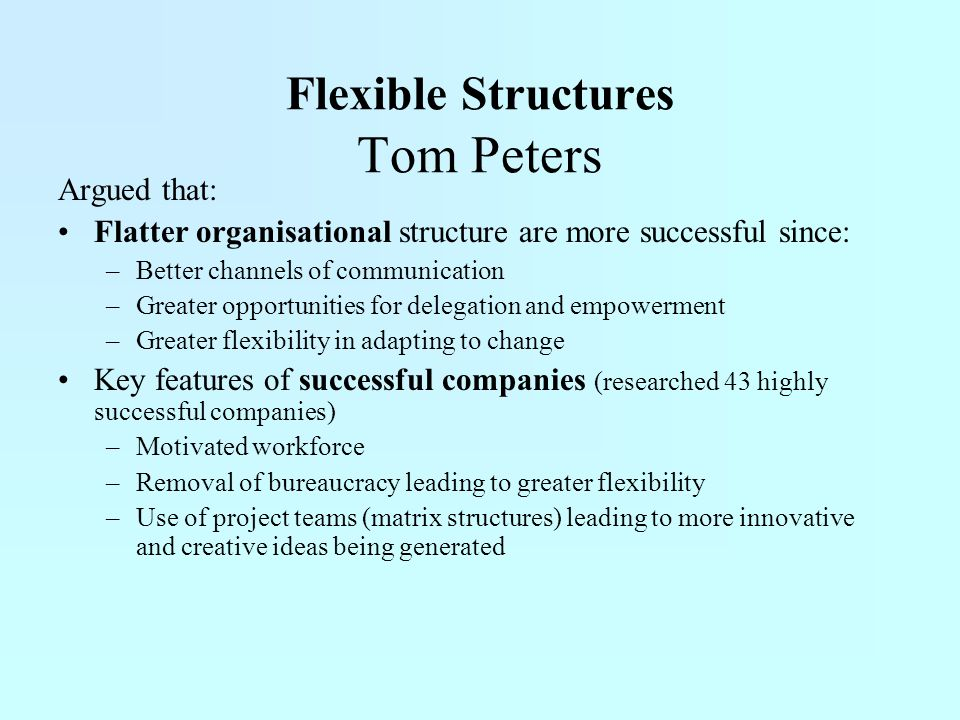 Flexible Structures Tom Peters