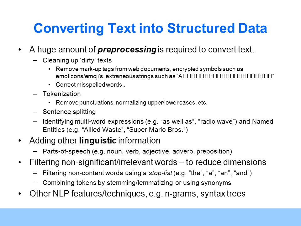 Csc 594 Topics In Ai Text Mining And Analytics Ppt Video Online