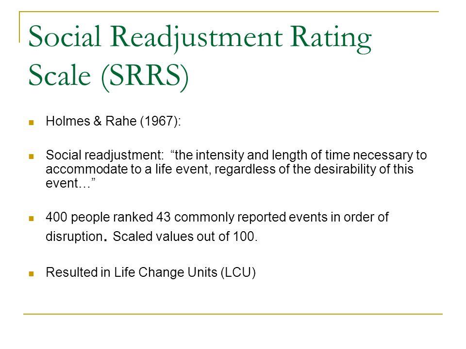 holmes rahe social readjustment scale