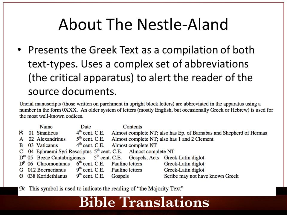 Bible Translations It is a little teQ: Why do we have