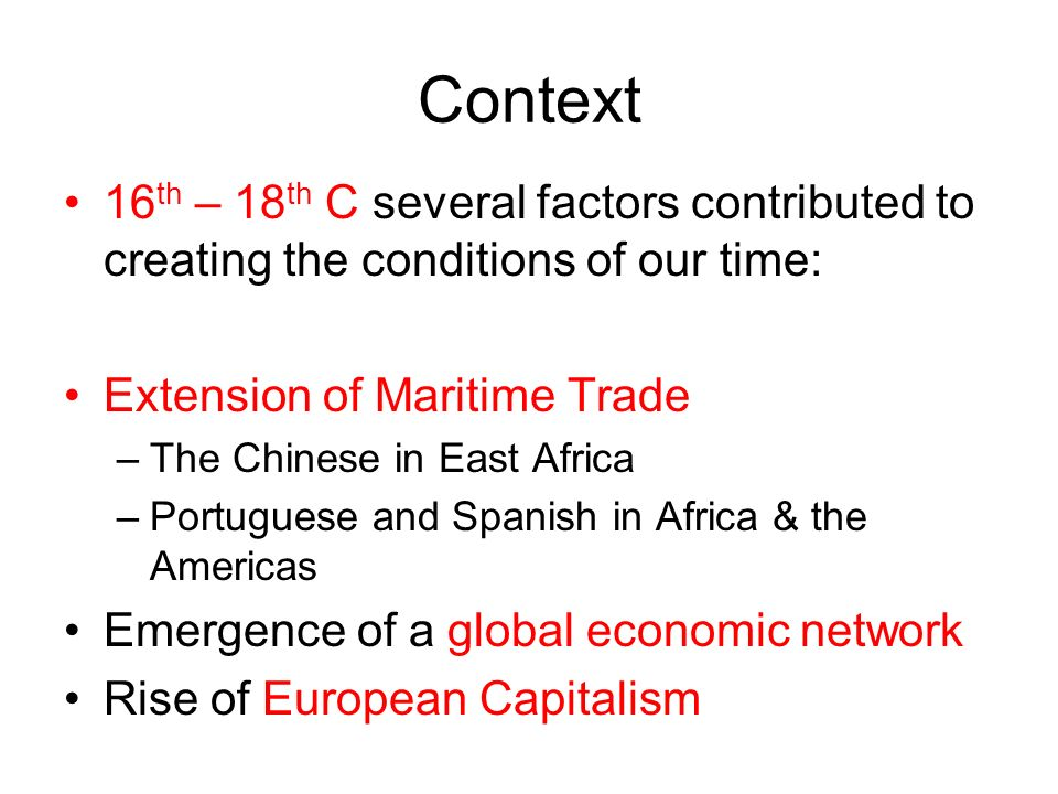 what factors led to the atlantic slave trade