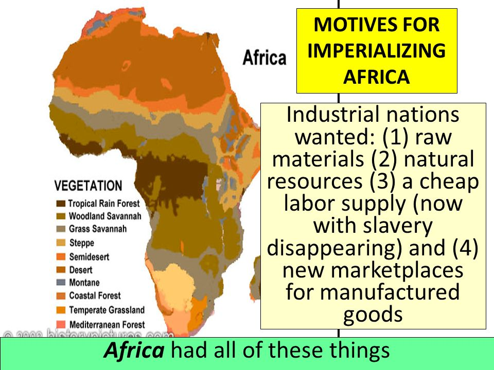 MOTIVES FOR IMPERIALIZING AFRICA
