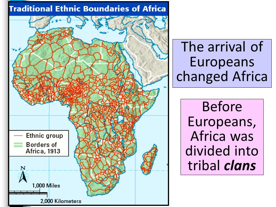 The arrival of Europeans changed Africa