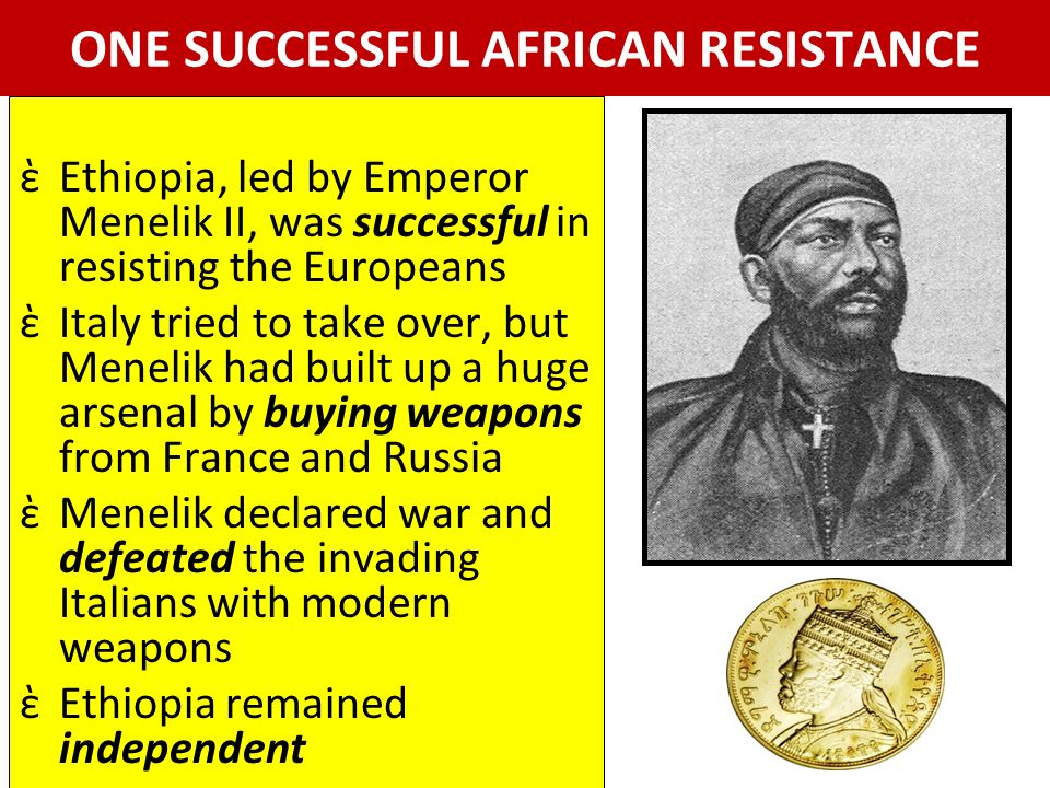 ONE SUCCESSFUL AFRICAN RESISTANCE
