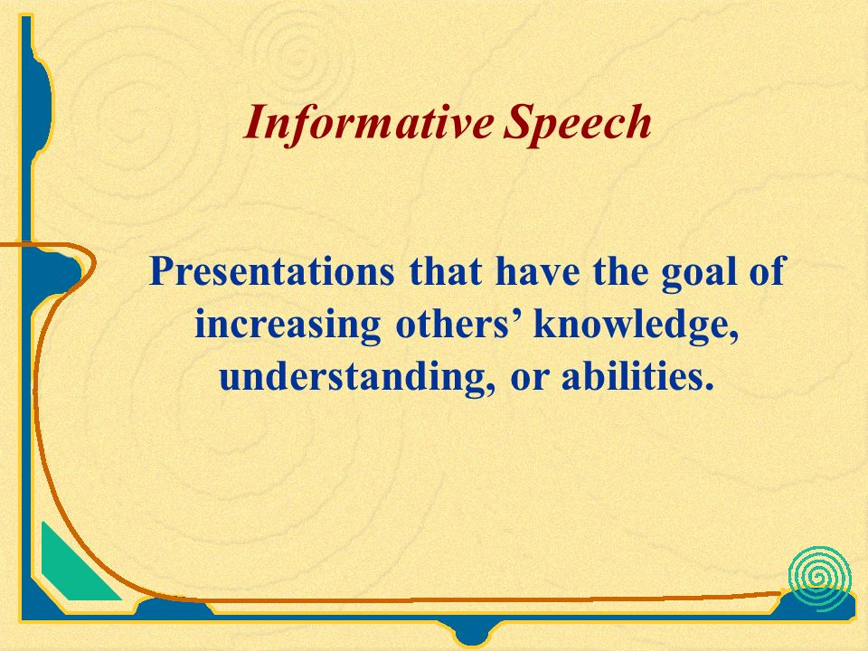 public speaking outline example informative speech
