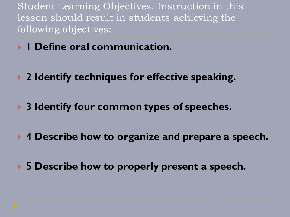 1 Define oral communication.