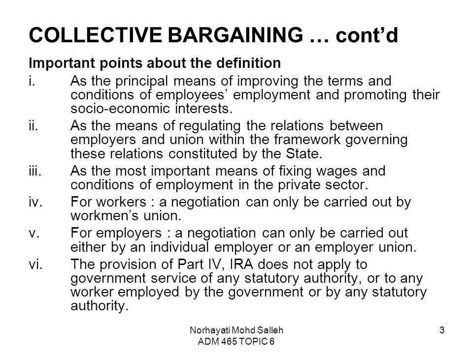 Topic 6 collective bargaining and collective agreement ppt video collective bargaining contd stopboris Choice Image