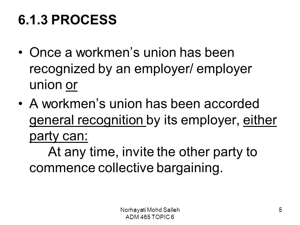 Topic 6 collective bargaining and collective agreement ppt video 5 norhayati stopboris Choice Image