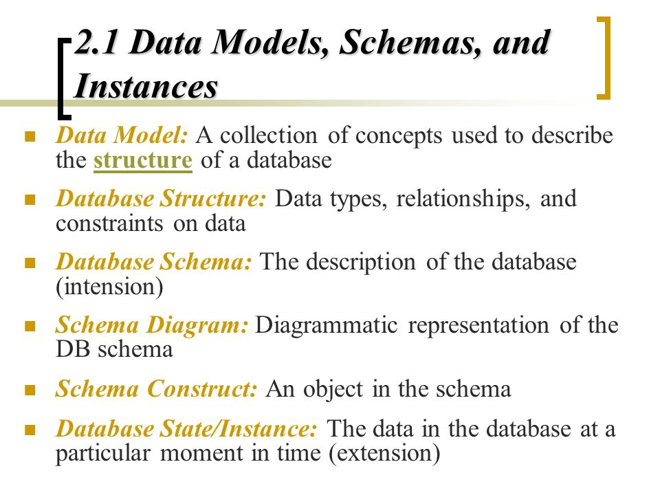 2 database system concepts and architecture ppt video online download 21 data models schemas and instances ccuart Images