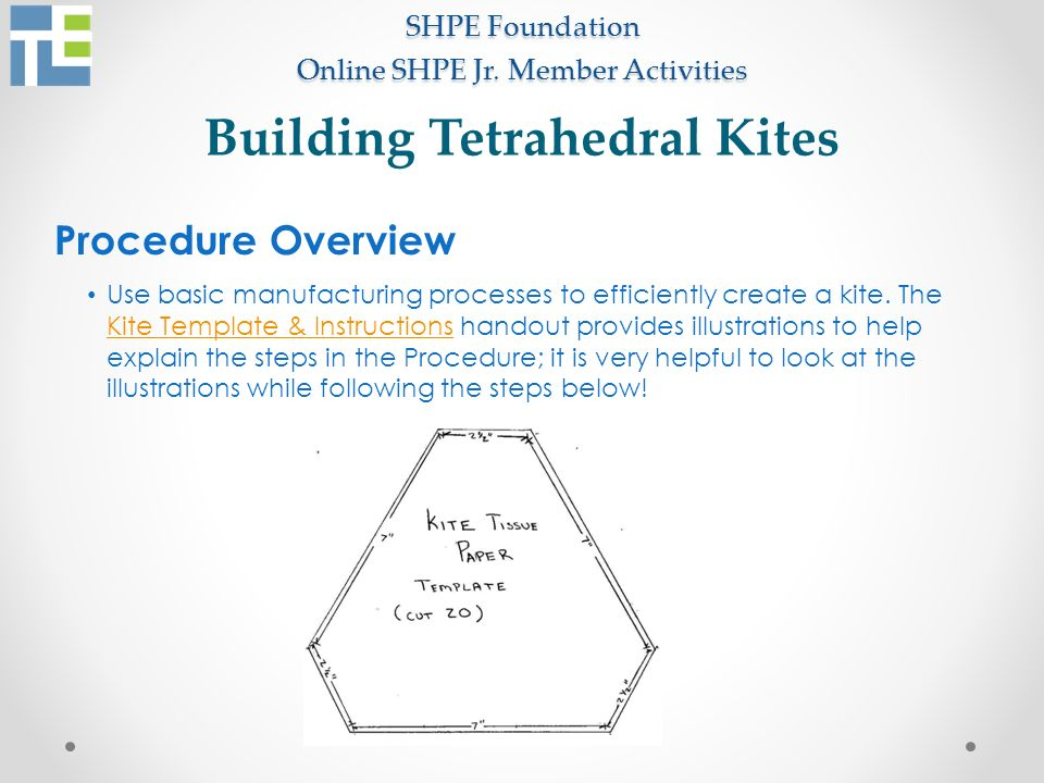 Shpe foundation online shpe jr member activities ppt video online building tetrahedral kites maxwellsz