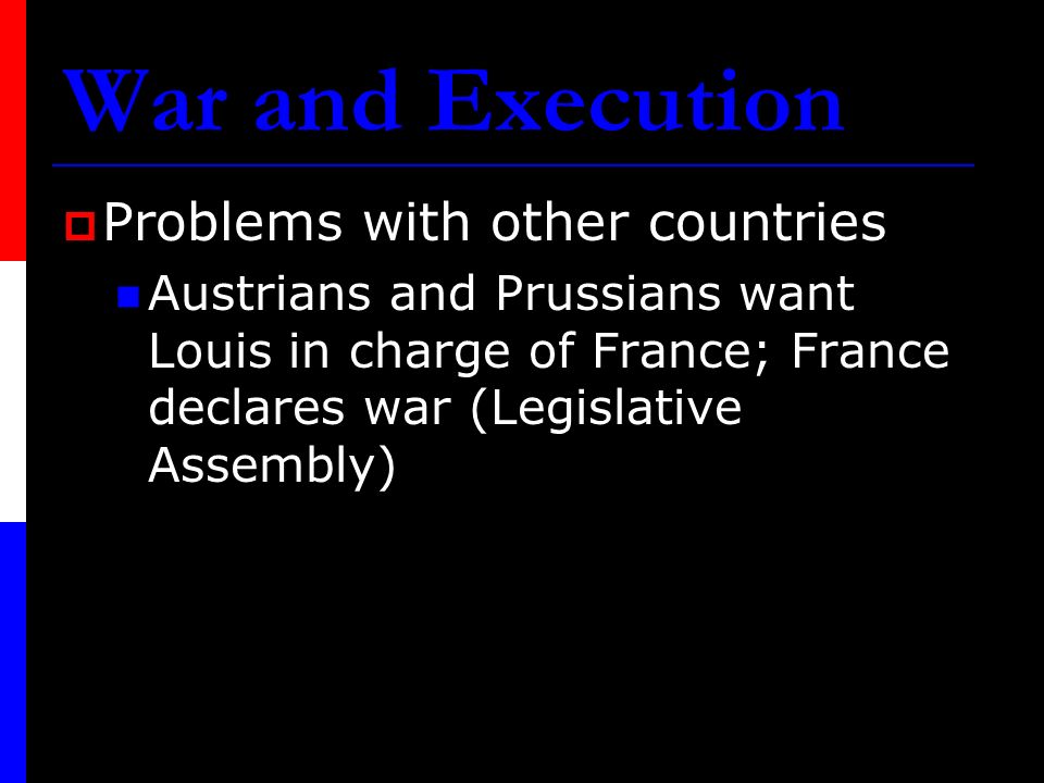 War and Execution Problems with other countries