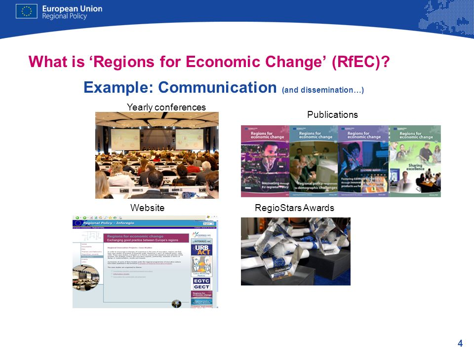 What is 'Regions for Economic Change' (RfEC)