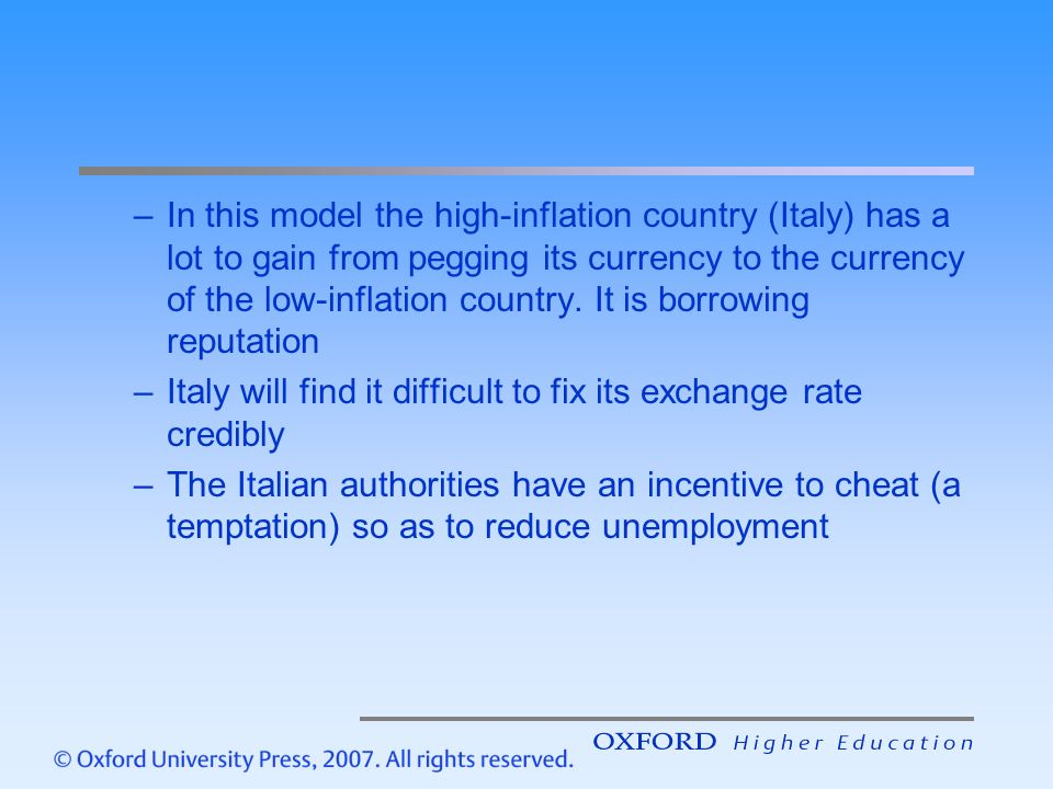In This Model The High Inflation Country Italy Has A Lot To Gain