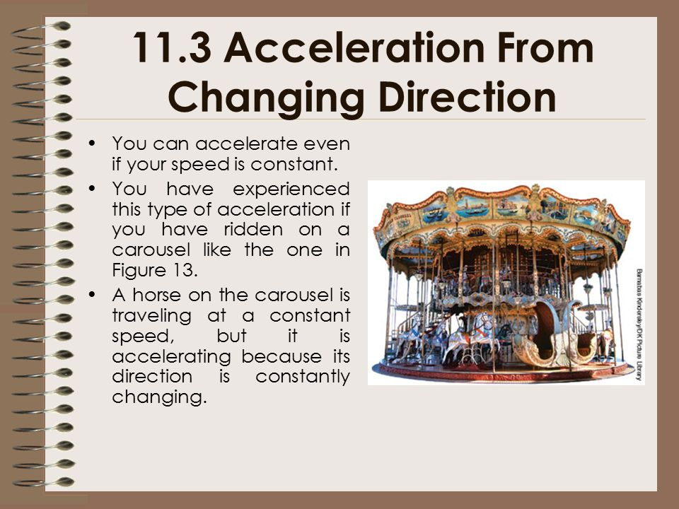 11.3 Acceleration From Changing Direction