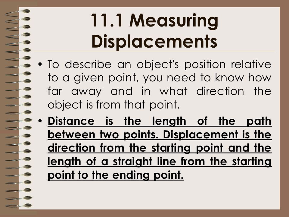 11.1 Measuring Displacements