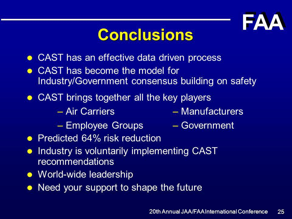Safety Initiatives Commercial Aviation Safety Team (CAST) - ppt