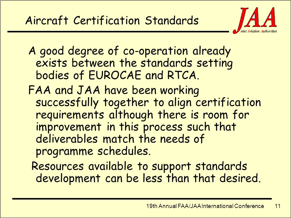 Aircraft Certification Standards